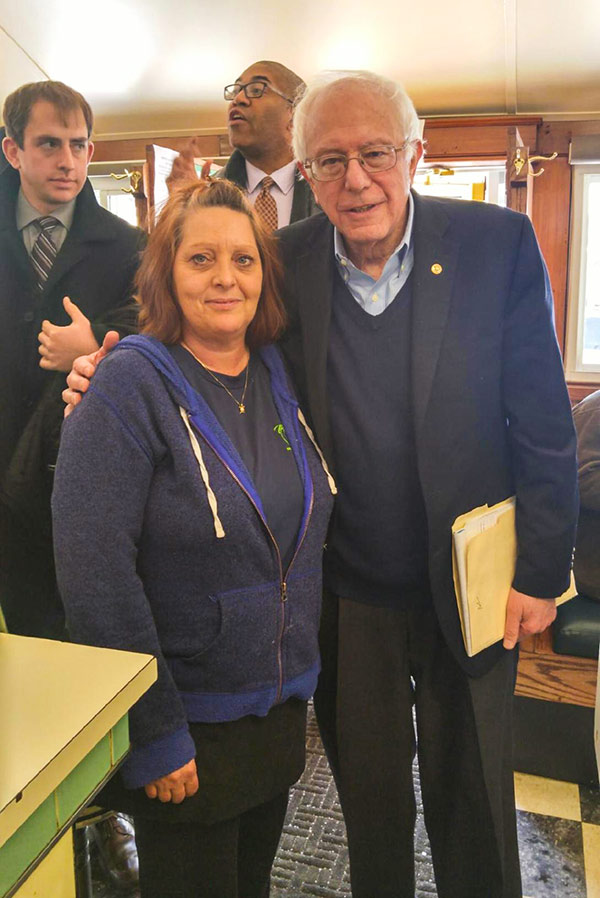 Bernie Sanders Peterborough Diner